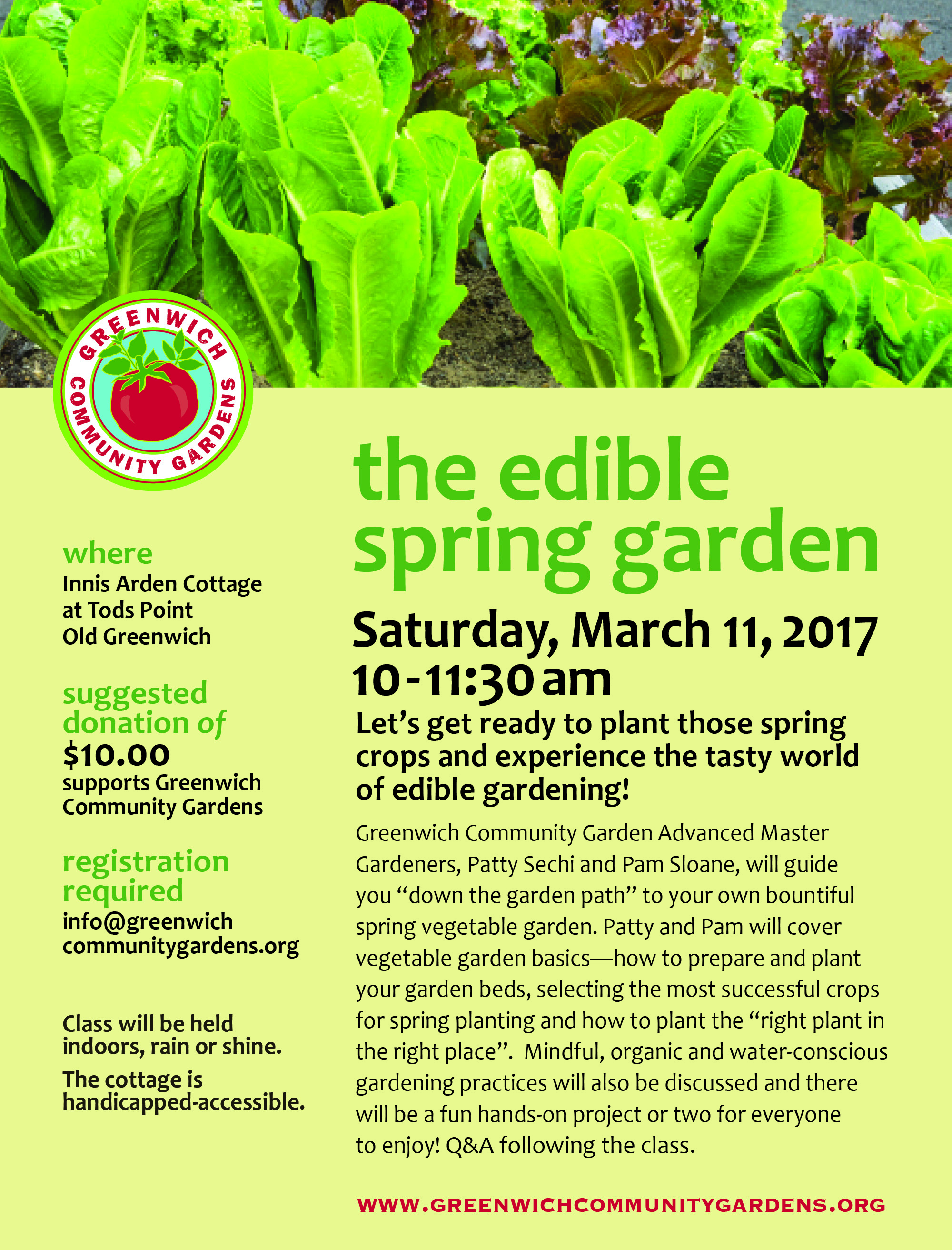 The Edible Spring Garden